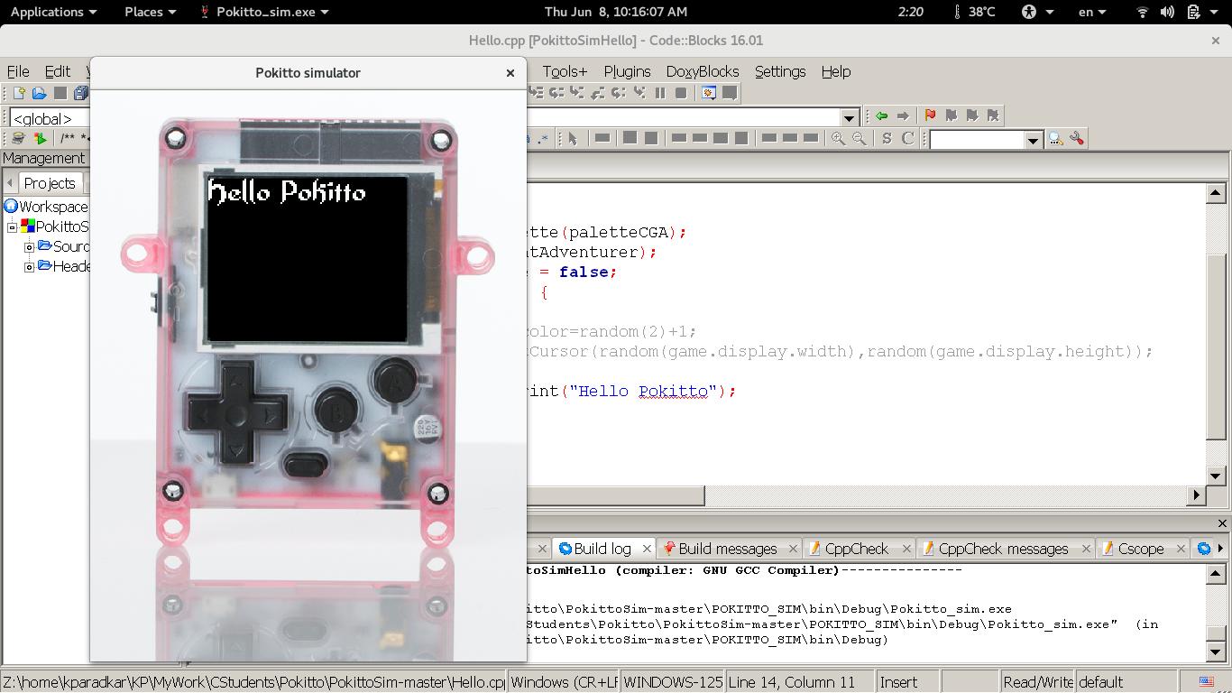 Windows & Linux Simulator repository on github - Pokitto Simulator
