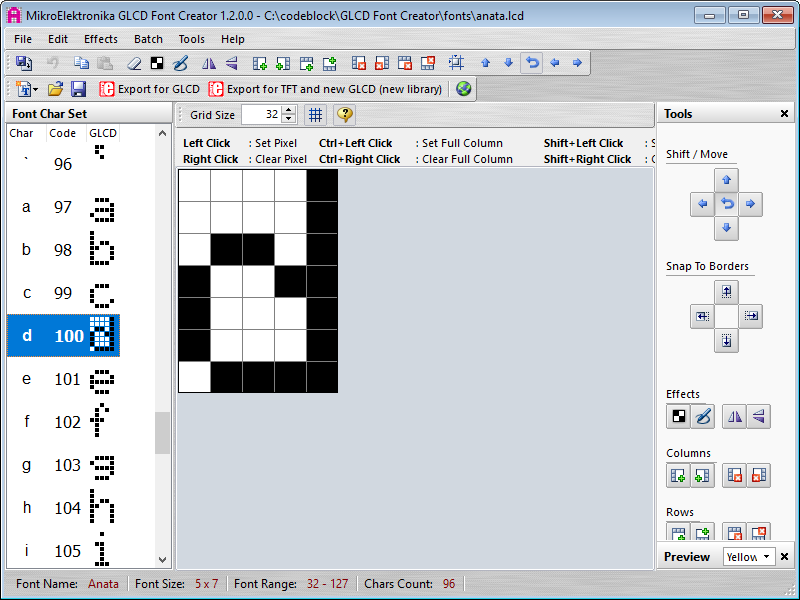 Creating new fonts for Pokitto - part 1 - drawing fonts - Tutorials