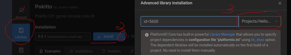 Atom IDE and PlatformIO on Linux (Fedora) - Pokitto