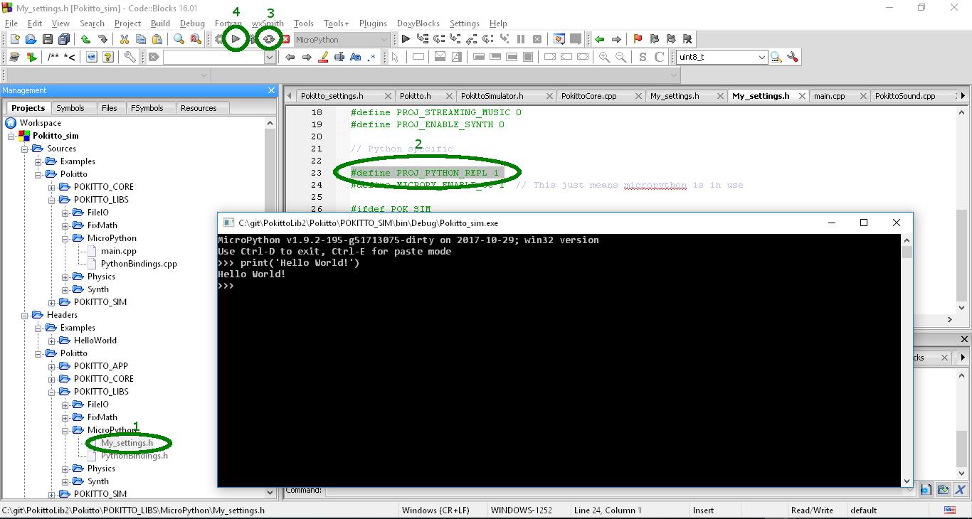 Wiki]Introduction to MicroPython under Pokitto Simulator